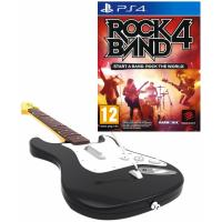 Rock Band 4 Bundle Игра + Гитара Mad Catz Wireless Fender Stratocaster (PS4, б/у)